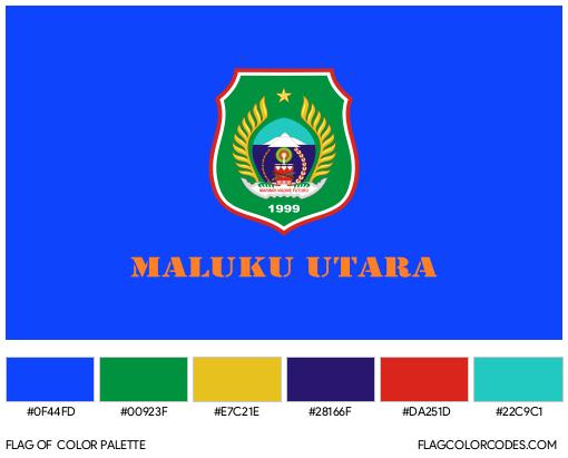 North Maluku Flag Color Palette