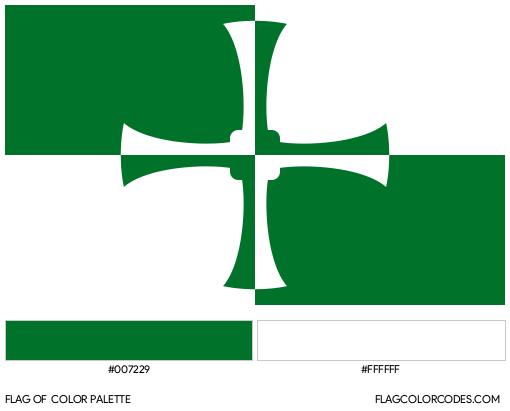 Kirkcudbrightshire Flag Color Palette