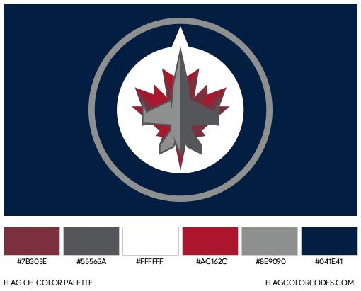 Winnipeg Jets Flag Color Palette