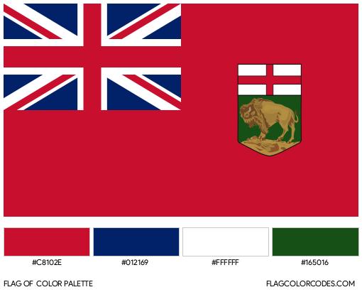 Manitoba Flag Color Palette