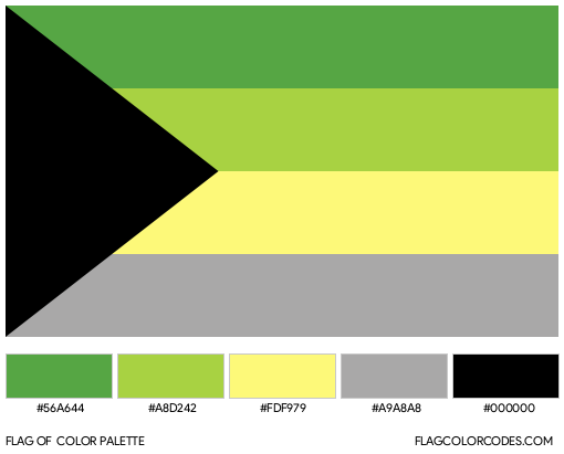 Demiromantic (Alternate) Flag Color Palette