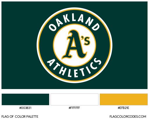 Oakland Athletics Flag Color Palette