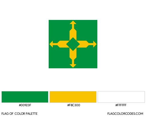 Distrito Federal Flag Color Palette