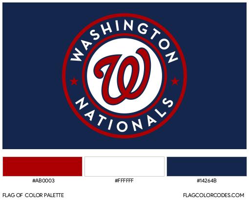 Washington Nationals Flag Color Palette