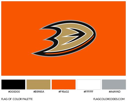 Anaheim Ducks Flag Color Palette