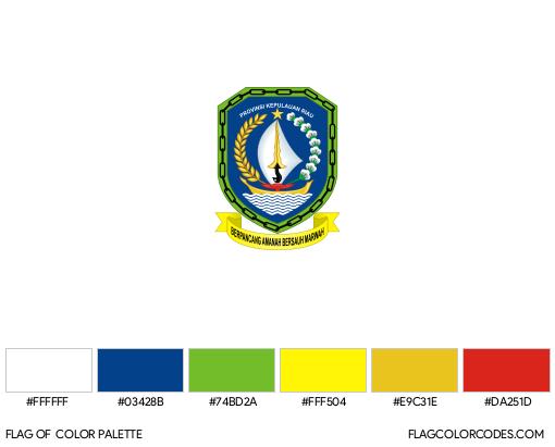 Riau Islands Flag Color Palette