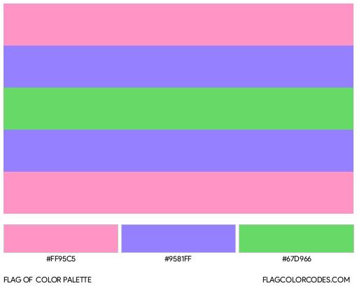 Trigender Flag Color Palette