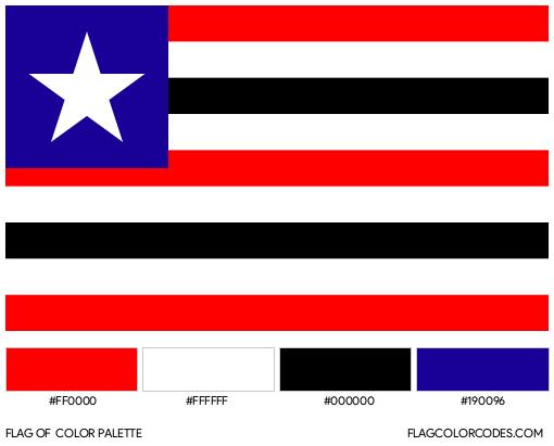 Maranhão Flag Color Palette