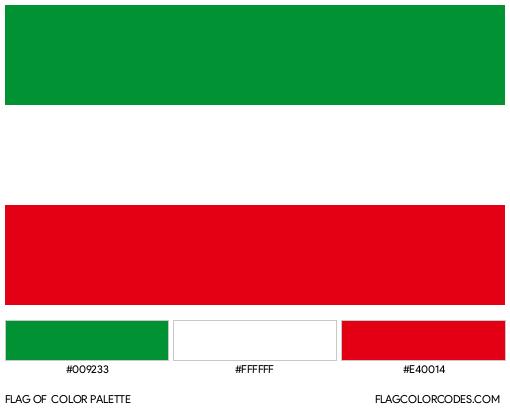 North Rhine-Westphalia Flag Color Palette