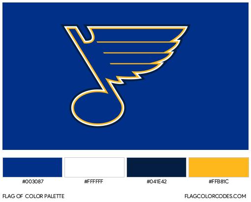 St. Louis Blues Flag Color Palette