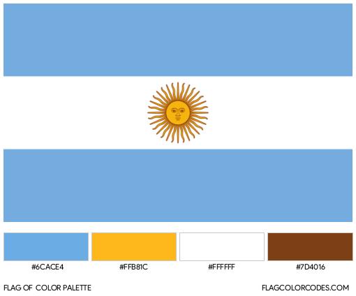 Argentina Flag Color Palette