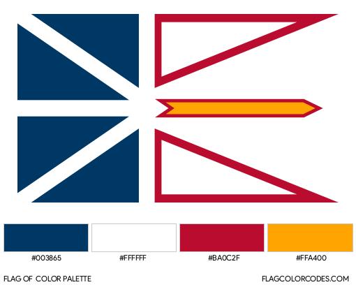 Newfoundland and Labrador Flag Color Palette