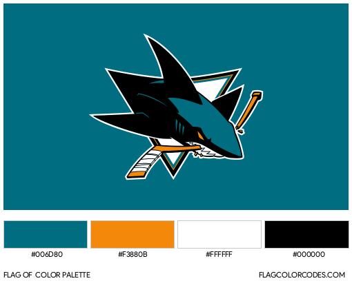 San Jose Sharks Flag Color Palette