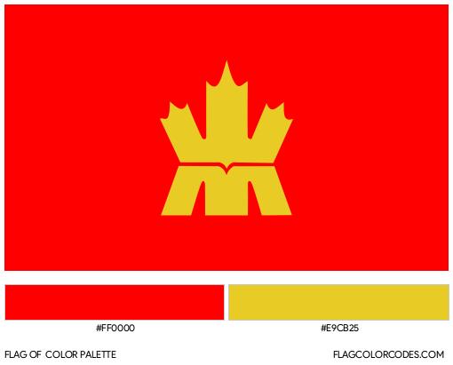 Royal Canadian Mint Flag Color Palette