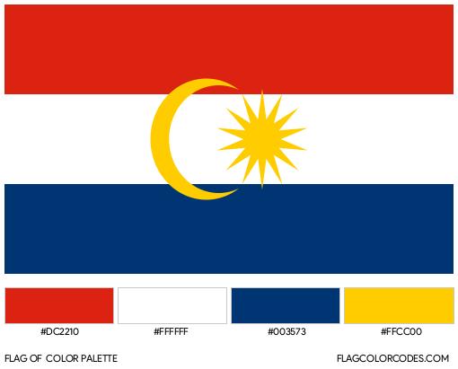 Labuan Flag Color Palette