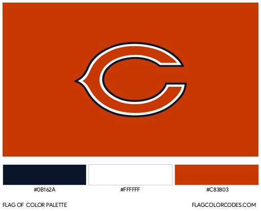 Chicago Bears Flag Color Palette