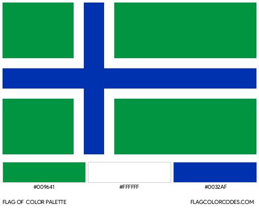 Benbecula Flag Color Palette