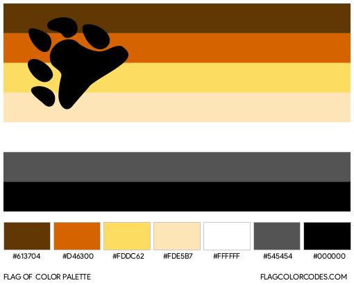 International Bear Brotherhood Flag Color Palette
