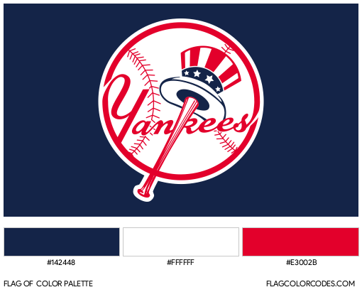 New York Yankees Flag Color Palette