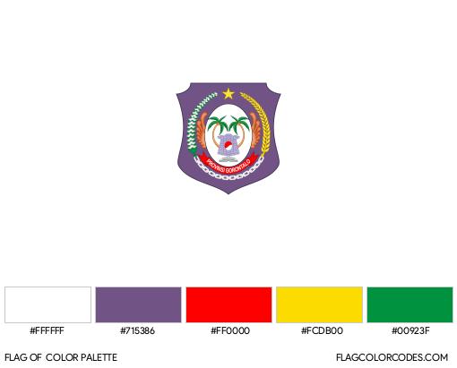 Gorontalo Flag Color Palette
