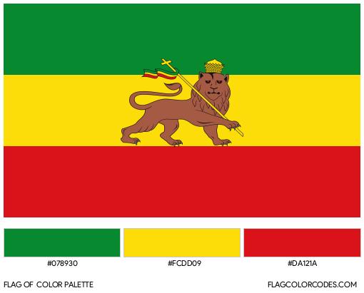 Rasta Flag Color Palette