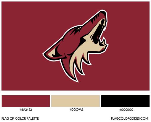Arizona Coyotes Flag Color Palette