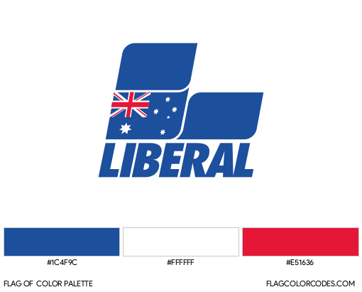 Liberal Party of Australia Flag Color Palette