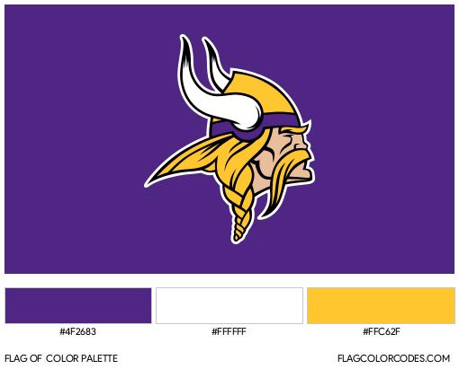 Minnesota Vikings Flag Color Palette