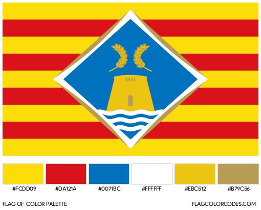 Formentera Flag Color Palette