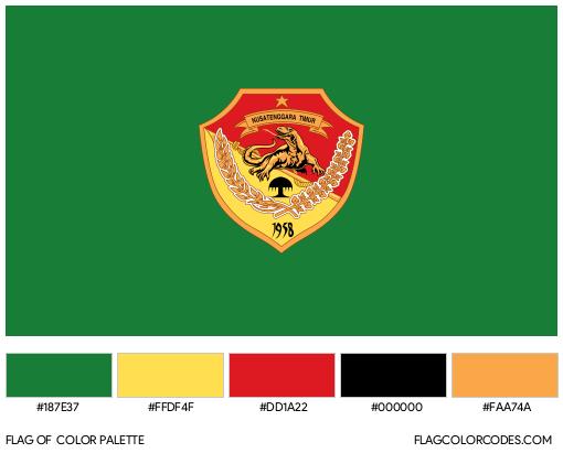 East Nusa Tenggara Flag Color Palette