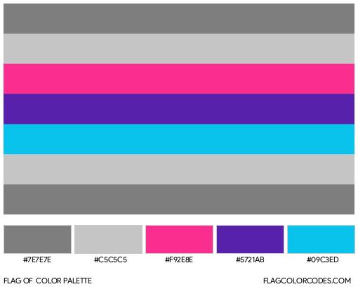 Demiandrogyne Flag Color Palette