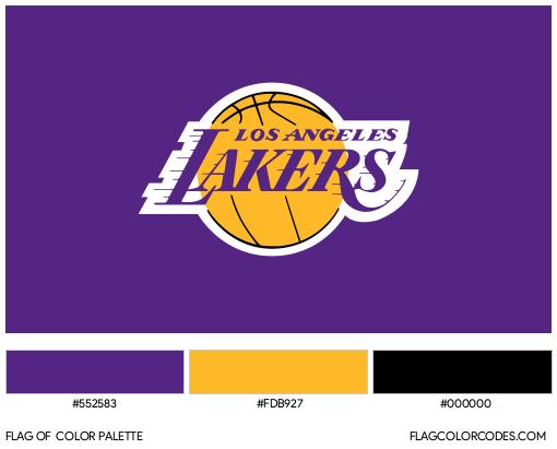Los Angeles Lakers Flag Color Palette