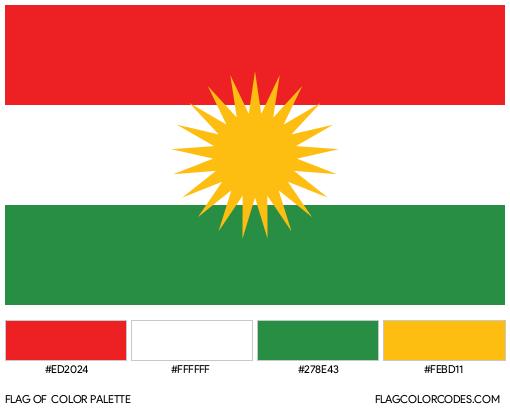 Kurdistan Flag Color Palette