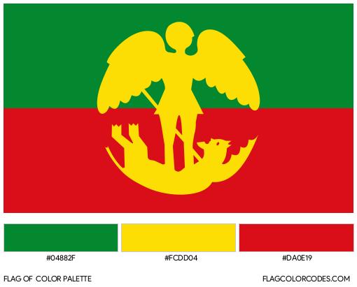 City of Brussels Flag Color Palette