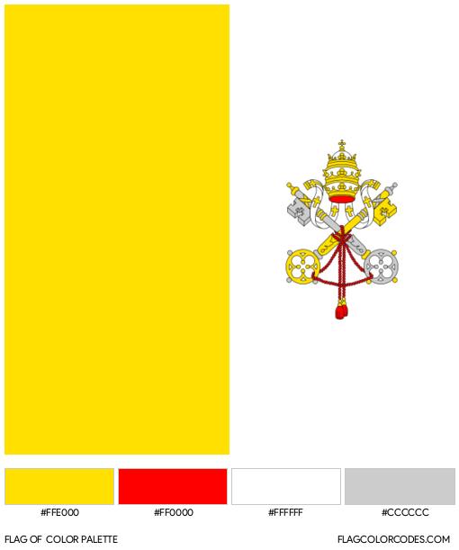 Vatican City Flag Color Palette