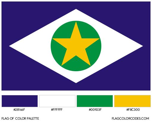 Mato Grosso Flag Color Palette