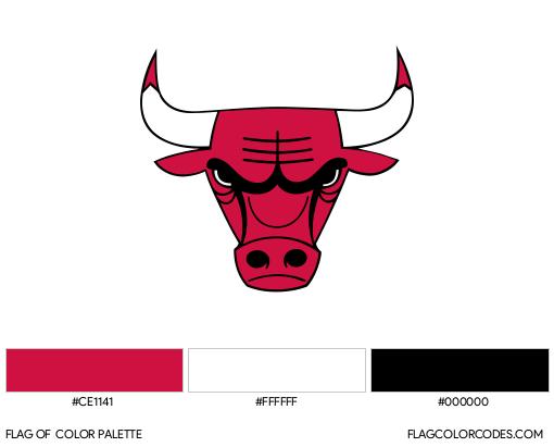 Chicago Bulls Flag Color Palette