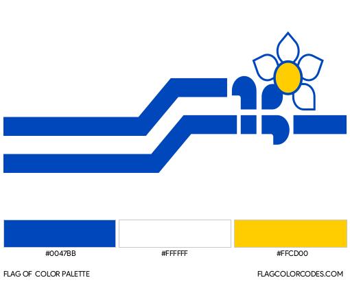 Franco-Columbians Flag Color Palette