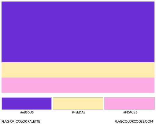 Aftgender Flag Color Palette