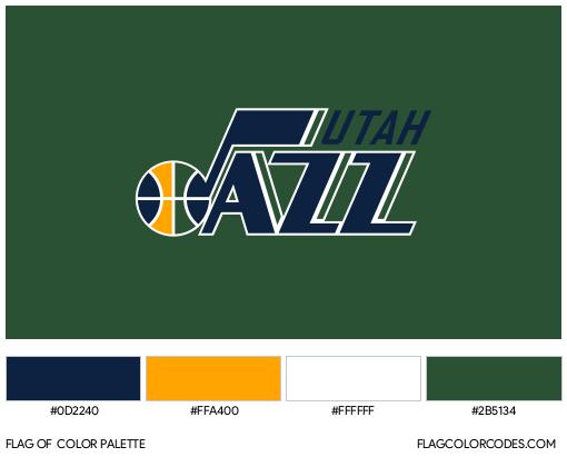 Utah Jazz Flag Color Palette
