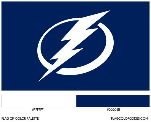 Tampa Bay Lightning Flag Color Palette