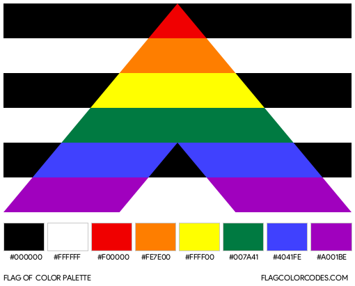 Straight Ally Flag Color Palette