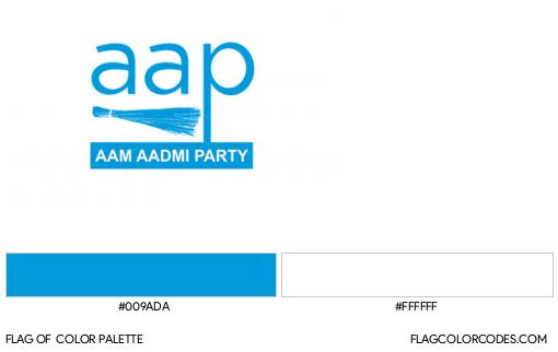 Aam Aadmi Party Flag Color Palette