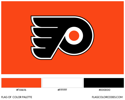 Philadelphia Flyers Flag Color Palette
