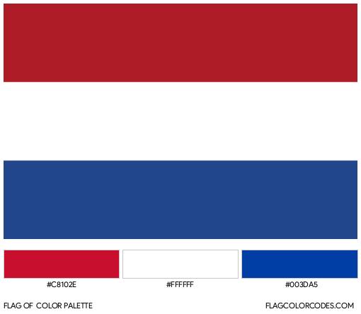 The Netherlands Flag Color Palette