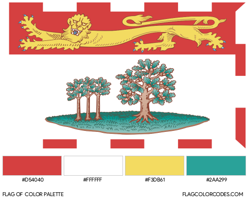 Prince Edward Island Flag Color Palette