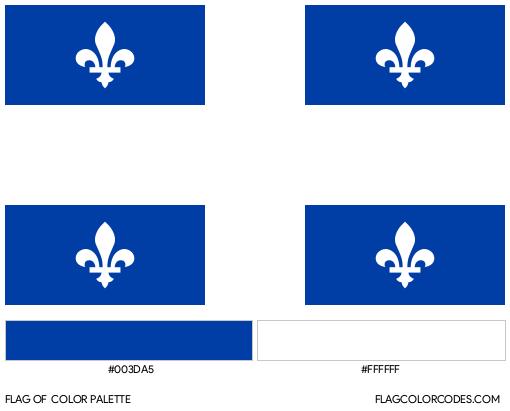 Quebec Flag Color Palette