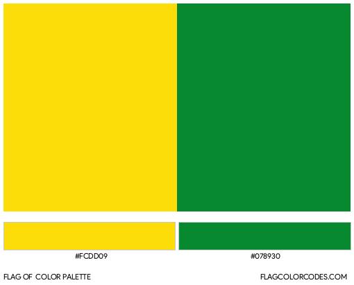 Caldas Flag Color Palette