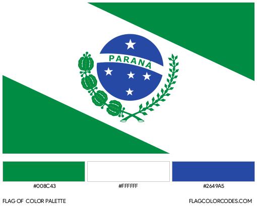Paraná Flag Color Palette