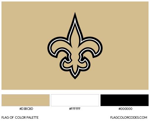 New Orleans Saints Flag Color Palette